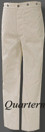 CSMC (Marine Corps) Enlisted Trousers, Summer - White Duck