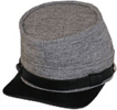 plain Confederate Enlisted Kepi in #1 gray wooljean