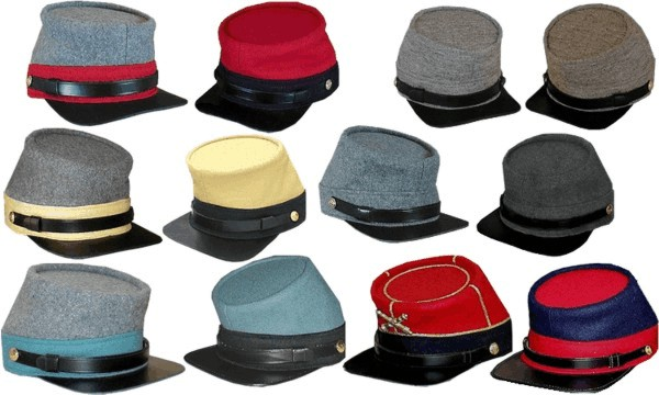 67658372b33 Confederate enlisted and NCO military uniform hats and caps ...