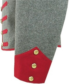 17th Mississippi Infantry Shelljacket, side showing sleeve detail
