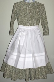 Girls Dress #5 - Homestead with Apron, 19th Century (1800s) Childrens Dresses / Clothing