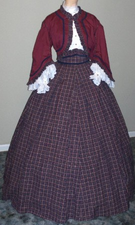 d054f6209a39c Sample C, 1860s Girls Zouave 3 piece outfit - blouse, skirt and jacket, 19th  Century (