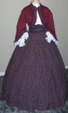 1860s Zouave Day or Evening Dress - blouse and skirt top, 19th Century (1800s) Ladies Jacket and Skirt