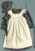Girl's Pinafore with Hat/Bonnet. Victorian & Civil War dresses
