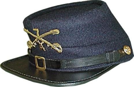INDIAN WARS KEPI 7th CAVALRY CAP HAT BLUE WOOL CROSSED SWORDS UNION CAVALRY
