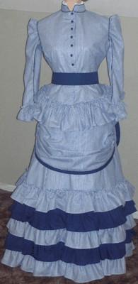 e72d033803e 1873-74 Bustle Day or Tea Dress