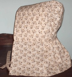 Ladies Long Quilted and Padded Bonnet, 19th Century (1800s) Ladies Accessories