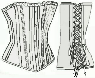 Ladies Corset, 19th Century (1800s) Ladies underpinnings