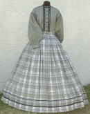 Ladies day and evening bodice and skirt. Victorian & Civil War underpinnings