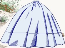 Ladies day and evening skirt. Victorian & Civil War underpinnings