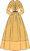 1840s Day Dress, 19th Century (1800s) Ladies Dresses