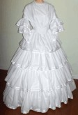 1848-1850s Fan Front Dress, 19th Century (1800s) Ladies Dresses