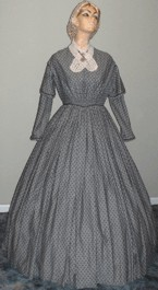 1848 Day Dress, 19th Century (1800s) Ladies Dresses