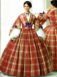 1860s Pagoda Day or Tea Dress #2, 19th Century (1800s) Ladies dresses