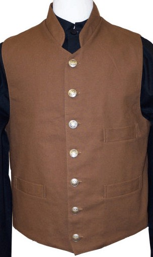 Victorian Civilian Shawl And Notched Collar Vests 19th