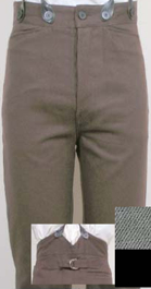 Brushed Cotton Twill Civilian Trousers / Pants