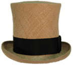 Topper - High in Straw, 19th Century (1800s) Men's Hat