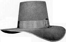Puritan, 18th and early 19th Century (1800s) men's hat