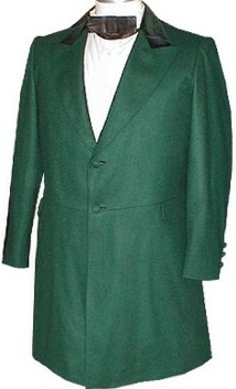 Chestnut Civilian Frockcoat In Forest Green 19th Century 1800s Clothing
