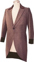 Civilain Morning Coat (Cutaway / Riding Coat) in Chocolate Brown, 19th Century (1800s) Men's Clothing