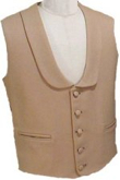 Civilain  Shawl Collar Vest, 19th Century (1800s) Men's Clothing