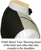 Partial Collar detail for Shawl Collar Vest, 19th Century (1800s) Men's Clothing