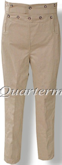 Men's 1830-1840 Broad Fall (Broadfall) Trousers