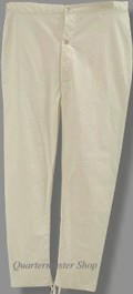 Natural Cotton Drawers / under-trousers, 19th Century (1800s) Men's Clothing