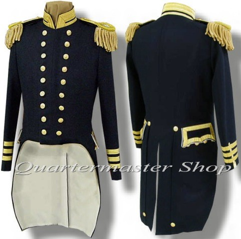 Us Naval Officers Dress Tail Coat Union Navy Uniforms Usn
