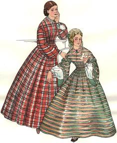 Ladies Dresses of the 1850s