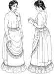 circa 1883-1884 Three Piece Ensemble (Bodice, Skirt & Overskirt). By Past Patterns #, 19th Century