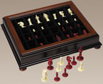 19th century 1800s toys and games - Chess board display case ...