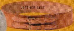 Waist Belt, wide belt with 2 buckles in natural