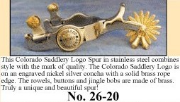 Colorado Saddlery Co. Logo Spurs, by Colorado Saddlery