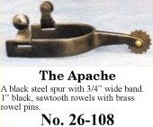 The Apache Spurs, by Colorado Saddlery