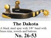 The Dakota Spurs, by Colorado Saddlery