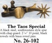 The Taos Special Spurs, by Colorado Saddlery