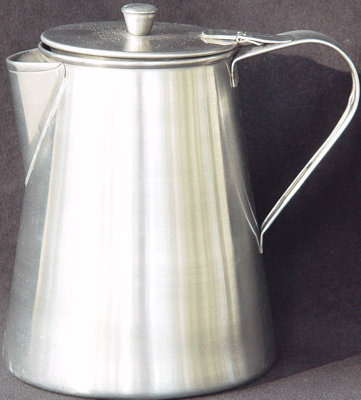 Small Coffee Pot Of Stainless Steel 1800s 19th Century