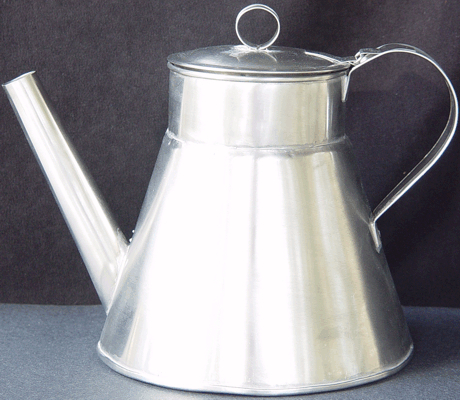 Large Coffee Pot Of Stainless Steel 1800s 19th Century