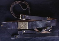 Cavalry Sabre Belt, Regulation Black Leather