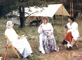Ladies in camp
