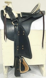 Military Style Hope Cavalry Saddle, Joseph E. Johnston Style