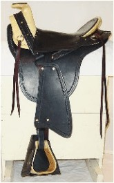 Military Style Hope Cavalry Saddle, Edward L. Gallatin Style