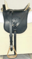 Confederate (CS) McClellan saddle, copy of on in the General Sweeney Museum