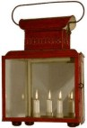 Ships 4 candle lantern, Starboard - Green or Port - Red