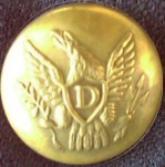 Dragoon officers uniform button