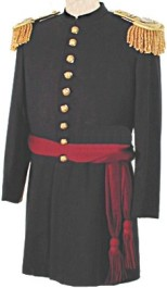 Civil War Junior Officers Frock with Epaulets and Sash