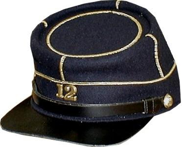 CIVIL WAR OFFICER PENNSYLVANIA KEYSTONE IN WREATH HAT CAP KEPI INSIGNIA-SMALL